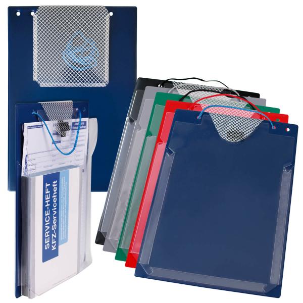Auftragstasche XXL: für Füllhöhen bis 30 mm, Klettverschluss  Blau