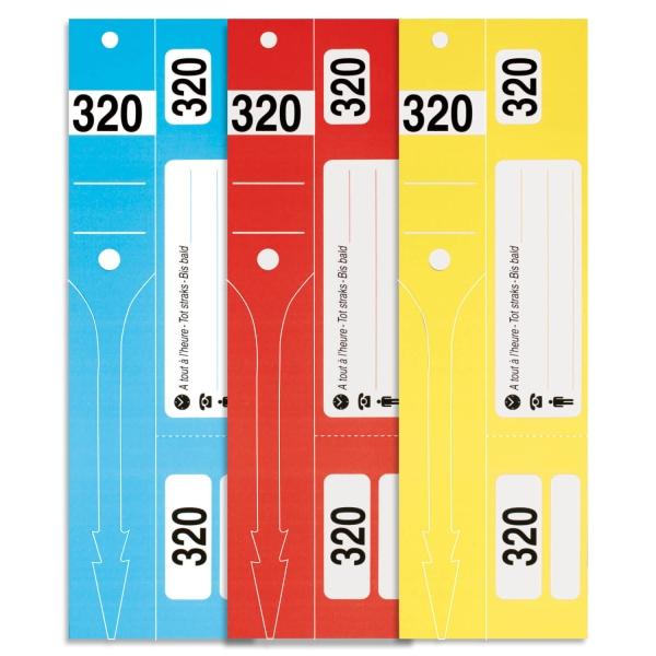 Eurotag Car-ID: 3in1 Schlüsseletiketten 3-teilig: Nr. 01-320  Blau Nr. 01-320