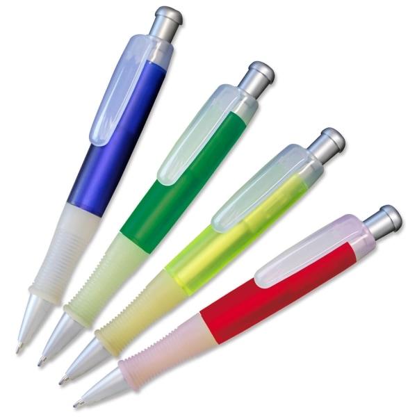 Druckkugelschreiber Jumbo mit Softgripp-Gummimanschette  Rot