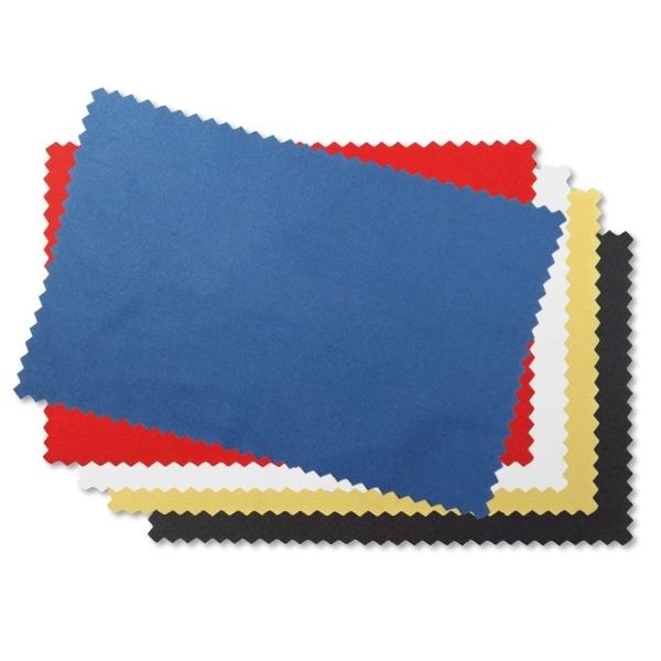 Reinigungstuch Brillentuch aus Microfaser mit 1-farbigem Aufdruck Blau