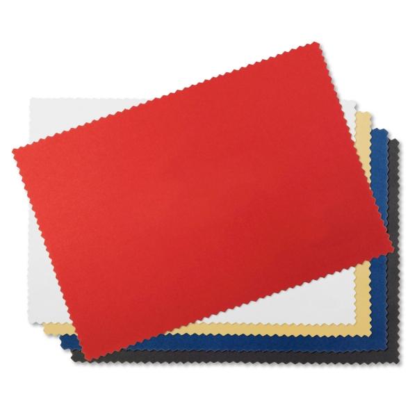 Reinigungstuch Klare Sicht aus Microfaser mit 1-farbigem Aufdruck Rot