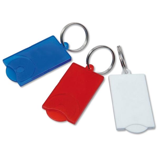 Schlüsselanhänger Split mit Einkaufschip  Blau