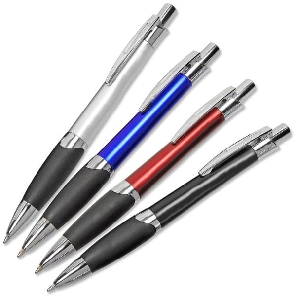 Druckkugelschreiber Torino: mit Anti-Rutsch Gummimanschette  Hellblau
