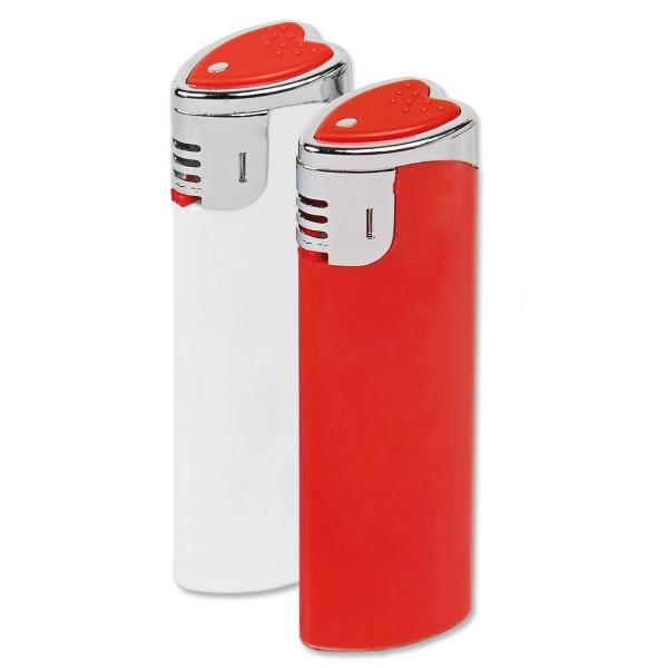 Elektronikfeuerzeug Herz nachfüllbar  Rot