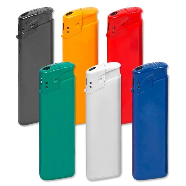 Elektronikfeuerzeug Luca mit Flammenregulierung, nachfüllbar  Blau