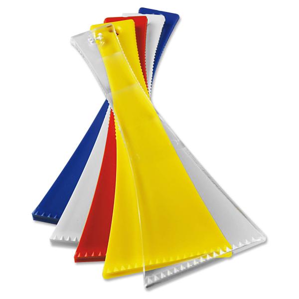 """Eiskratzer """"AERO"""" extra stabil, scharfe Eisbrechkante, sehr handliche Form Rot"""