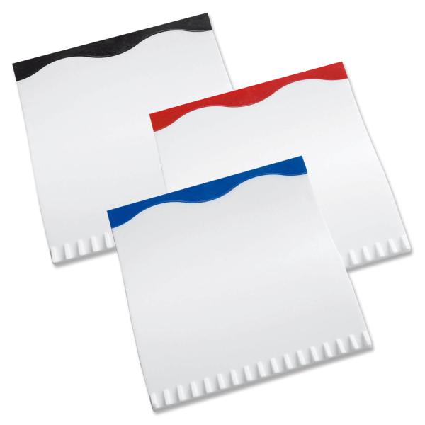 """Eiskratzer """"White-Wave"""", Gummilippe farbig, Eiskratzer weiss Weiß/Blau"""