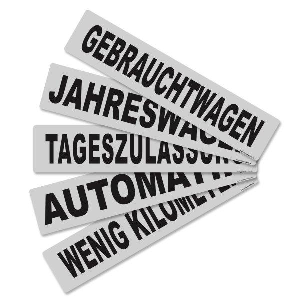 Miniletter Gebrauchtwagen: Kennzeicheneinleger  Gebrauchtwagen