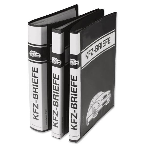 Dokumentenmappe A4 mit 30 Klarsichthüllen für KFZ-Briefe (dokumentenecht) mit 30 Hüllen