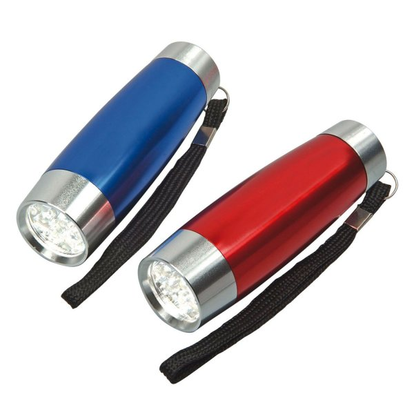 Led-Taschenlampe Flashlight im modernen, eleganten Design  Blau/Silber