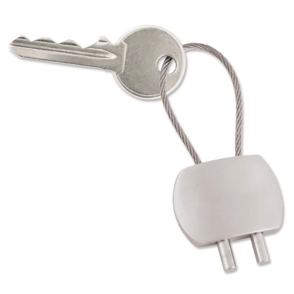 Schlüsselanhänger Transit mit Drahtseilschlaufe Silber