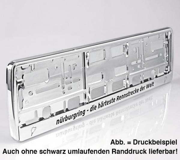 Kennzeichenhalter mit Hochglanz-Chrome-Look, Steckleiste abnehmbar ...
