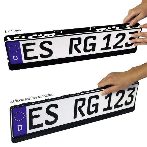 Kennzeichenhalter EASY-CLICK RGS ®: Clickverschlußtechnik unbedruckt ...