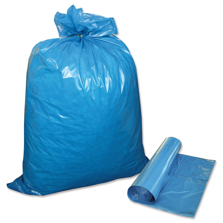m lls cke 120 liter stabile ausf hrung 25 st ck auf rolle blau. Black Bedroom Furniture Sets. Home Design Ideas