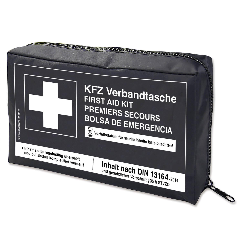 kfz verbandtasche inhalt nach din 13164 nylontasche mit 2. Black Bedroom Furniture Sets. Home Design Ideas