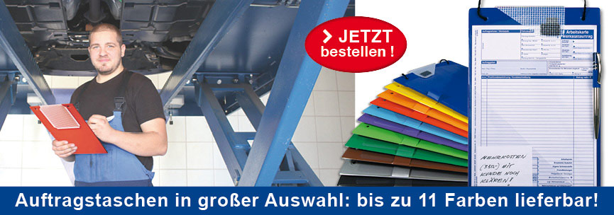 Banner Auftragstaschen