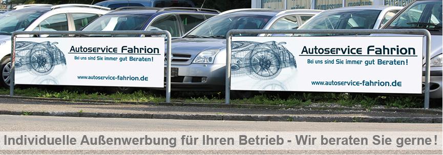 Banner Außenwerbung