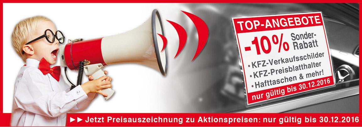 Banner Preisauszeichnung Aktion