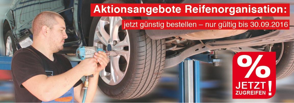 Banner Reifen-Organisation