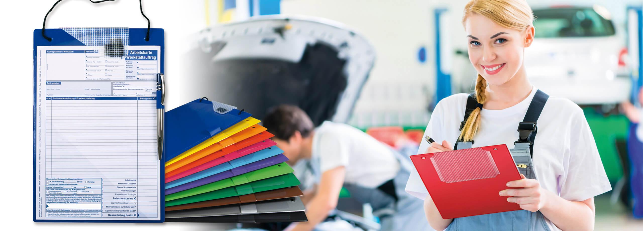 Werkstattorganisation - Auftragstaschen